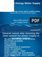 Renewable Energy on Pumping System