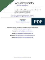 Problemas Con Estudios Rerospectivos de Esquizofrenia