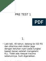 PRE TEST 1