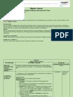 Planeación materia de álgebra lineal, unidad 1