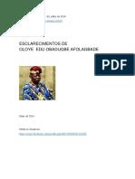 Esclarecimentos de Oloye Edu Obadugbe Afolagbade