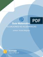 1. Ec. No Algebraicas