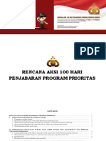Buku Rencana Aksi 100 Hari Penjabaran Program Promoter