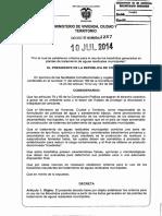 Decreto 1287 Del 10 de Julio de 2014