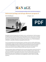 Retirement Package and Old Age Allowance Program-II