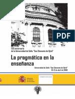 La Pragmática en La Enseñanza de Lenguas Extranjeras.