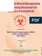 Bio- Medical Waste Management Self Learning Document for Nurses and Paramedica