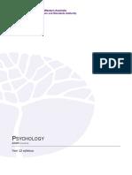 Psychology Y12 Syllabus ATAR PDF