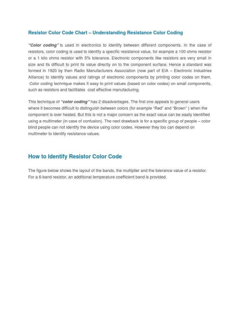 Resistor color code chart resistor electromagnetism nvjuhfo Gallery