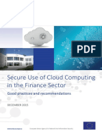 Secure Use ofSecure Use of Cloud Computing in the Finance Sector Cloud Computing in the Finance Sector