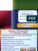 Session 12-Implementing Strategic Planning Through Corporate Culture & Leade