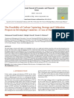 The Feasibility of Carbon Capturing, Storage and Utilization