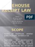 WareHouse Receipt Law Report