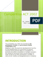Competition Act 2002 - By Aastha