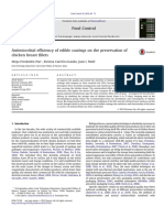 Antimicrobial efficiency of edible coatings on the preservation of chicken breast fillets