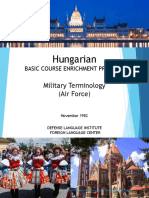 DLI Hungarian - Military Terminology (AF)