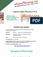 Walgreen Online Pharmacy