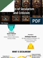 Origin of Secularism and Criticism