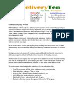 Capstone Brief Deliveryten-Spring 2015