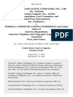 American Broadcasting Companies, Inc., Cbs Inc., National Broadcasting Company, Inc., Ad Hoc Telecommunications Users Committee, and United Press International, Inc. v. Federal Communications Commission and United States of America, American Telephone and Telegraph Company, and the Associated Press, Intervenors, 662 F.2d 155, 2d Cir. (1981)