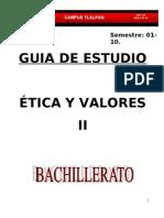 Guia Ética y Valores II 3er parcial