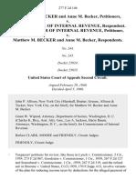 Matthew M. Becker and Anne M. Becker v. Commissioner of Internal Revenue, Commissioner of Internal Revenue v. Matthew M. Becker and Anne M. Becker, 277 F.2d 146, 2d Cir. (1960)