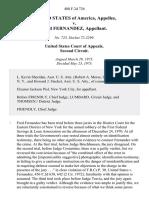 United States v. Fred Fernandez, 480 F.2d 726, 2d Cir. (1973)