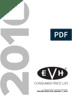 2016 EVH Consumer Price List