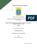 Modelo Genético Del Proyecto Los Mantos, Provincia de Aconcagua - Región de Valparaíso - Chile