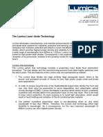 The Lumics Laser Diode Technology
