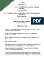 U.S. East Telecommunications, Inc. v. U.S. West Information Systems, Inc., Cross-Appellee, 15 F.3d 261, 2d Cir. (1994)