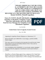 Ronnie Sledge v. Emery B. Guest, Sheriff, Individually and in His Official Capacities as Sheriff for Tompkins County, New York, and John Doe, Individually and in His Official Capacities as Food Services Manager for Tompkins County Jail, New York, 107 F.3d 4, 2d Cir. (1996)