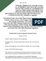 United States v. Wei Heng Lee, A/K/A Chih Ching Chang David Lien, A/K/A Lobster Edwin Arroyo, A/K/A Lumpy Tony Jain, A/K/A Ah Kee Sunday Franscisco, A/K/A Sunday, A/K/A Lnu1-93cr.1017-005 Edmund Jeong,a/k/a Beebee Ruan Jian Wei, A/K/A Ken Ruan Andrew Wong Nguyen Phong and Nguyen Chau, Gary Soo Kee Tam, A/K/A Anthony, A/K/A Lnu1-93cr.1017-006, 108 F.3d 1370, 2d Cir. (1997)