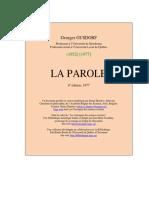 G Gusdorf - La Parole.pdf