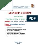 Informe Viaje Orcopampa