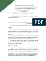 Reflexiones preliminares en torno a las edades de la migración peruana en Argentina