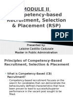MODULE II-Competency Based Recruitment, Selection and Placement