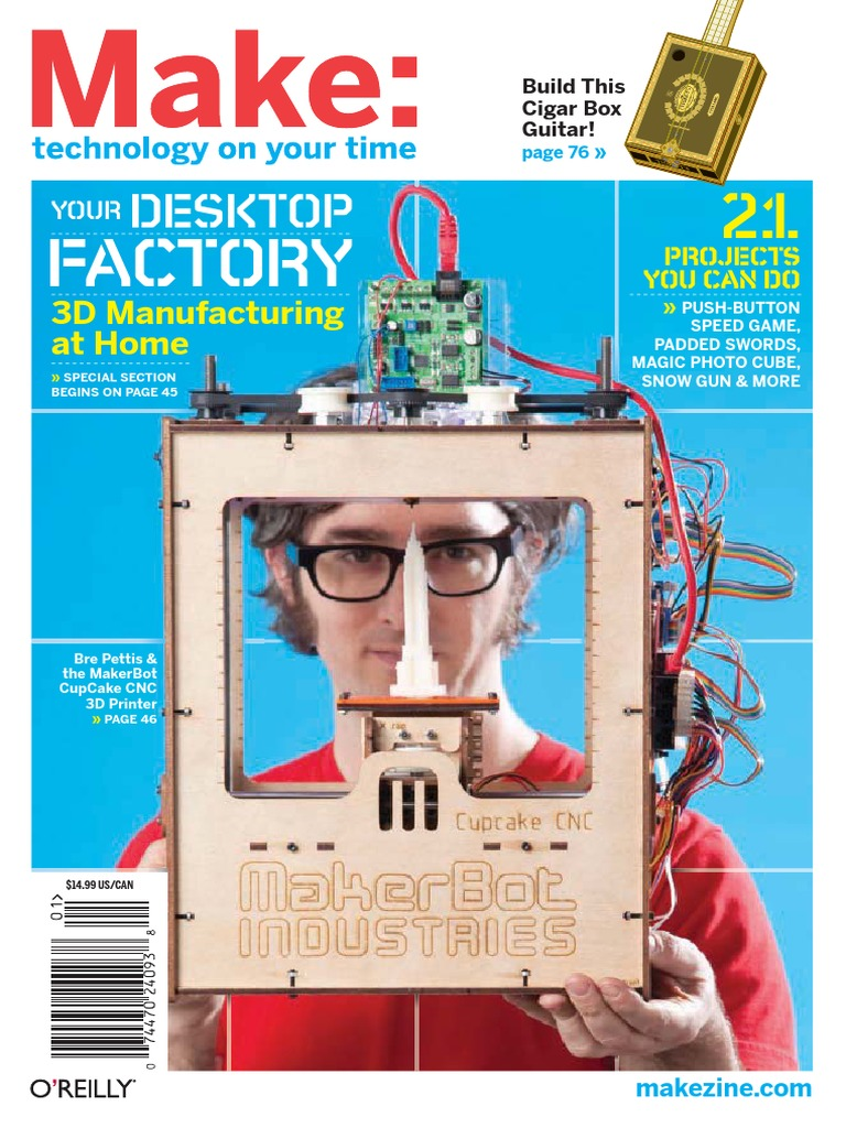 Oreilly Make Magazine No 21 2010 Computer Aided Design Post Circuit Bent Modified Toy Festival Ponoko Office Box