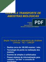 Coleta e Transporte de Amostras Biológicas