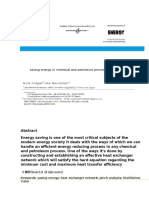 Saving Energy in Chemical and Petroleum Procees