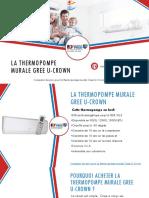 Gree U-Crown - Comparer 3 Prix Thermopompes
