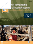 Climate Change Impacts on  Water Resources Management - Adaptation Challenges and Opportunities in Northeast Brazil