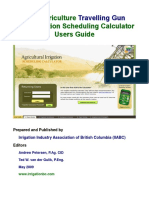 USER GUIDE Agric Travelling Gun Irrig Sched Calc 2009