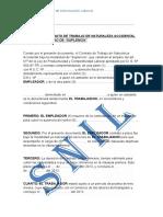 modelo de Contrato  de suplencia
