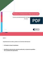 Ppt Precios y Cotizaciones Internacionales