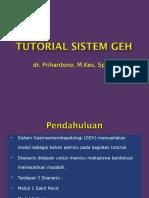 Penjelasan Tutorial Sistem GEH