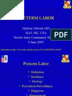 Preterm Labor Tre 2005