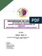 Silabos Farmacologia y Bases Terapeuticas 2014 II
