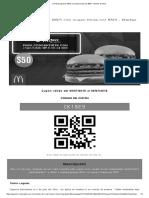 ¡2 Hamburguesas BBQ con queso triple por $50! - Martes de Mcd