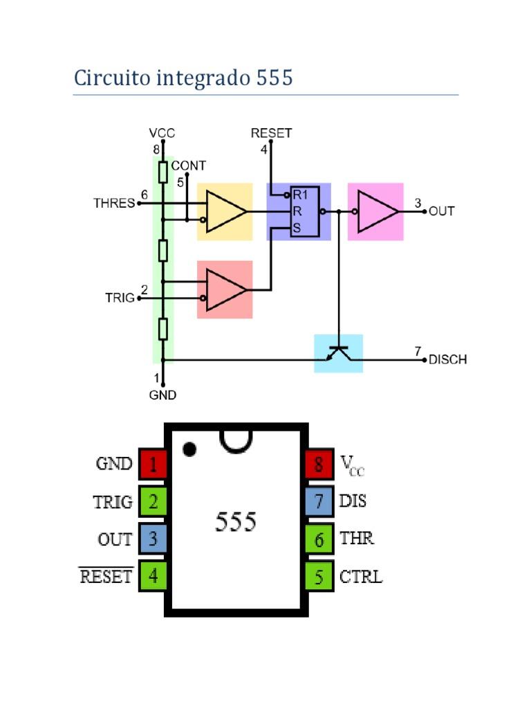 Circuito Ne555 : Ne integrati temporizzatore ne p ne n circuito